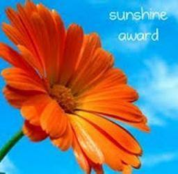 We got the Sunshine Award! :)