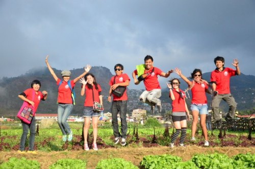 refreshing visit at strawberry farm