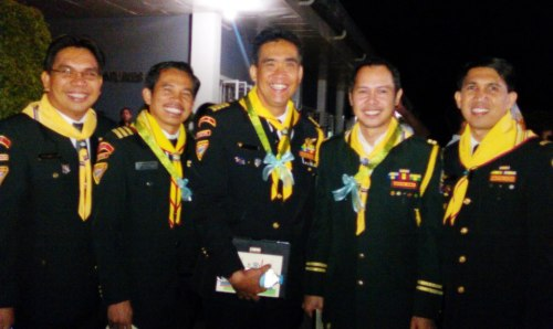 MG Ian Felicitas, MG Ron Genebago, MG Jobbie Yabut, MG Sherwin Fiedacan, MG Jeruel Ibanez (Guests/Platform Party)