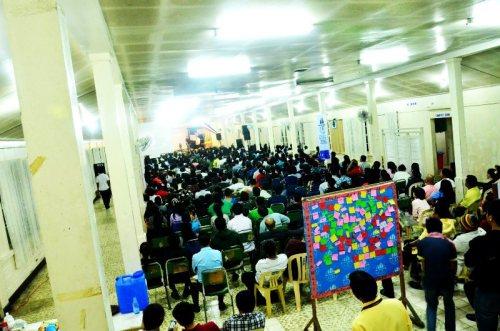 Sabbath worship at the main hall
