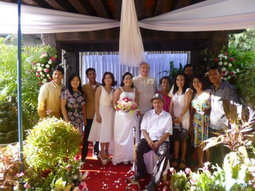 Honorica Family :D the bride's dad, siblings and their spouses