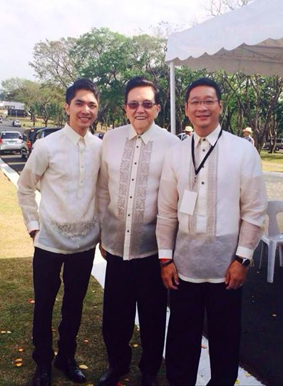 Josh Mahinay with EPPC Commissioner and Chairman of DLSU, Jose Pardo & EPPC Commissioner Anton Mari H. Lim at Libingan ng mga Bayani - wreath laying ceremony in celebration of the 28th EDSA People Power Revolution. Both very humble and nurturing people. (Photo by Josh Mahinay)