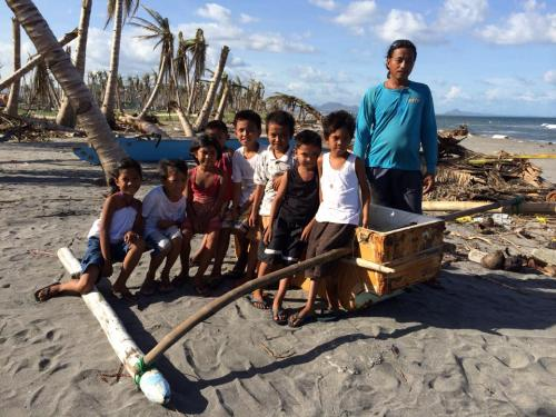 The fisherman would no longer use this improvised fishing boat from the debris of Yolanda's aftermath.