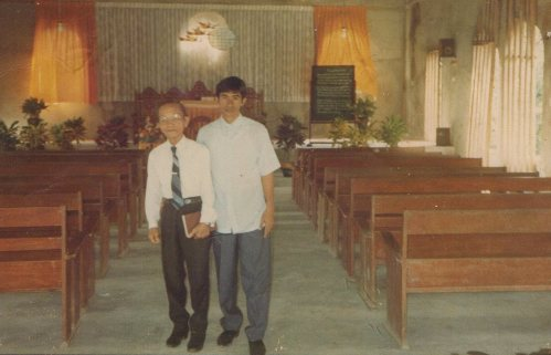 """Though He slay me, yet will I trust Him. Even so, I will defend my own ways before Him."" Job 13:15  *with Lolo Urbano Castillo, an evangelist whom God used to channel bring Papa in the faith and helped build our home church, Pinamalayan SDA Church taken in early 90's. I'll post his conversion story later on."