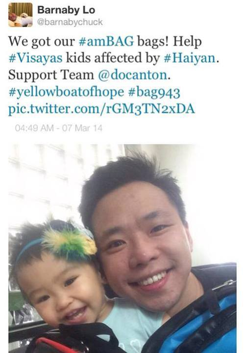 CBS and CCTV Correspondent Barnaby Lo with youngest #teamDocAnton supporter Danielle Savannah Lo!