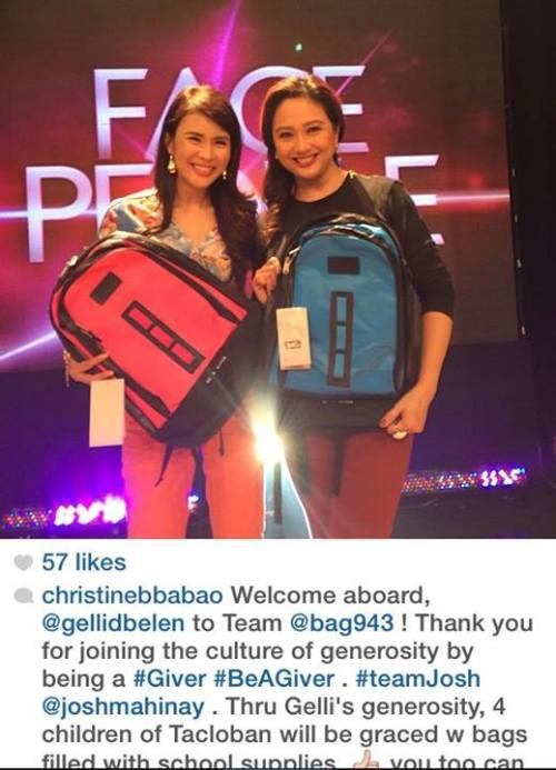Ms. Christine's compassionate support with Ms. Gelli de Belen-Rivera, her co-host and friend.