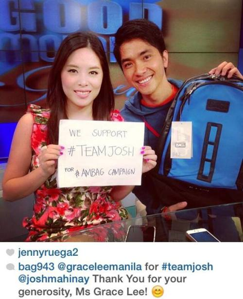Gorgeous and gracious Ms. Grace Lee joined Team Josh! :D