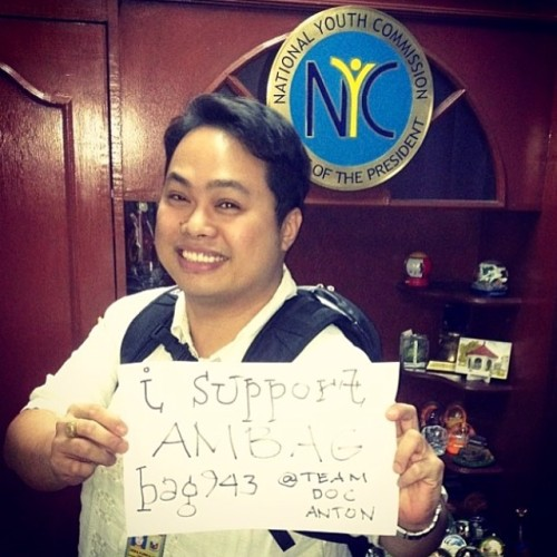 Thank you NYC Chair Leon Briones for supporting #amBAG TeamDocAnton! You too can BE A GIVER!