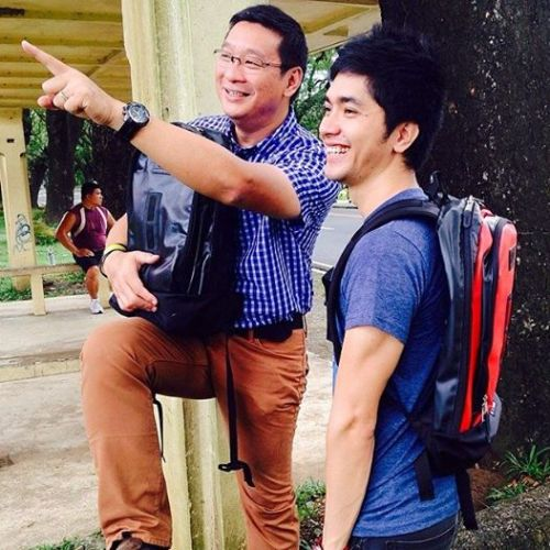 Thrilled Tandem: seems like Doc Anton is pointing to the finish line